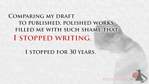 Stopped Writing Quote