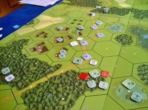 Advanced Squad Leader: Polish ambush of a German supply column in FT197 A Spoiled Afternoon.