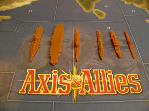 Axis and Allies, Japanese fleet miniatures