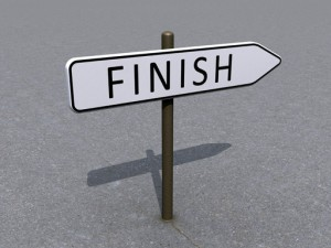 Finish signpost