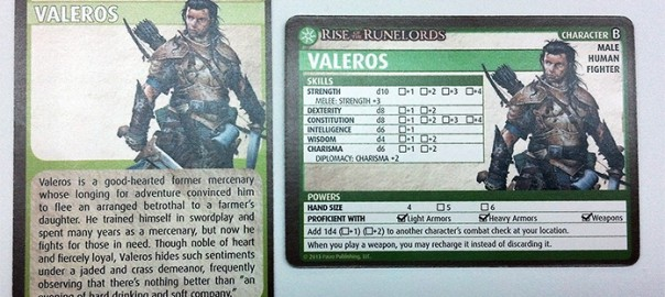 Pathfinder Card Game: Valeros the fighter