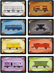 Ticket to Ride cards: train cars.