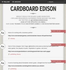 Cardboard Edison feed
