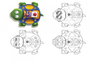 Robot Turtles design sketch