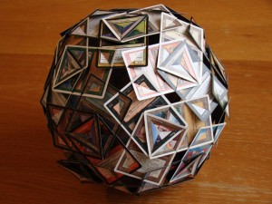 Deltoidal Hexecontahedron made from Magic the Gathering cards