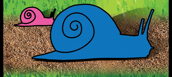 Sneaky Snails card