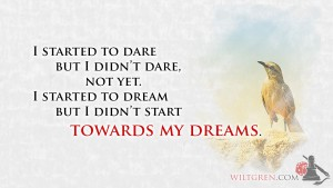 Towards my dreams quote