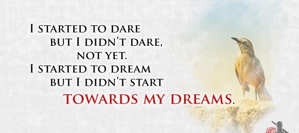 Towards my dreams quote