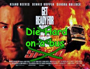 Speed poster - Die Hard on a bus