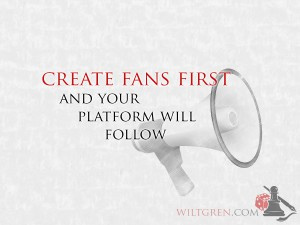 Create fans first
