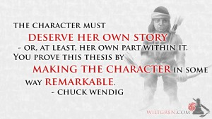 A Character must have her own story quote