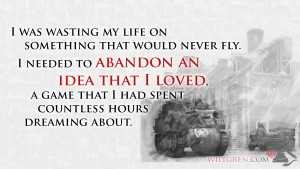 Abandon a game I loved quote