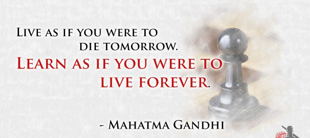 Learning Mahatma Gandhi quote