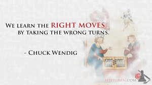 Learning Chuck Wendig quote