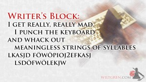 Writer's Block quote: Keyboard rage
