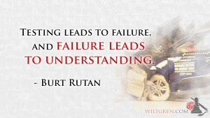 Failure leads to understanding Burt Rutan quote