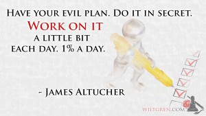 Work on it, James Altucher quote