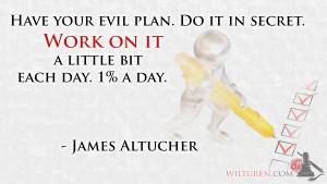 Work on it, James Altucher quote