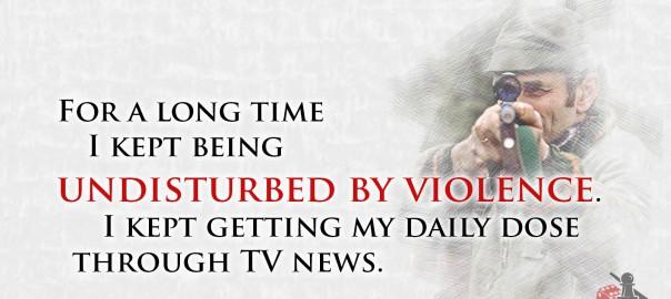 Undisturbed by violence quote