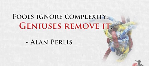 Genius removes complexity quote
