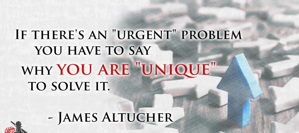 You are unique - James Altucher quote