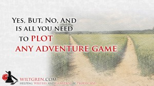 Plot any adventure game quote