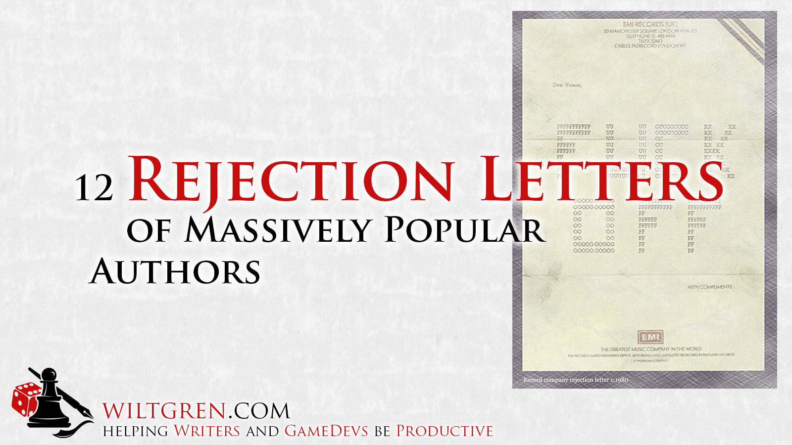12 rejection letters of massively popular authors filip wiltgren 12 rejection letters of massively popular authors thecheapjerseys Gallery